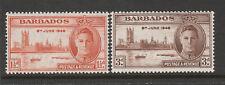 BARBADOS 1946 VICTORY PAIR SG 262-263 MNH.