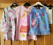 Peppa Pig Girls Bundle - Dress/Tunic/Vest & Short Set - M&S/Next/TU, Age 3-4yrs