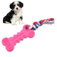 US 2x Pet Dog Toys Bite-Resistant Puppy Chew Toys Rubber Toy For Small Dogs New