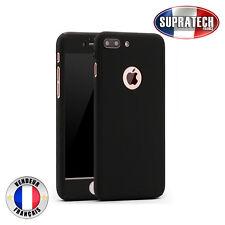 Coque de Protection Noir Avant et Arrière avec Verre pour Apple iPhone 7 Plus