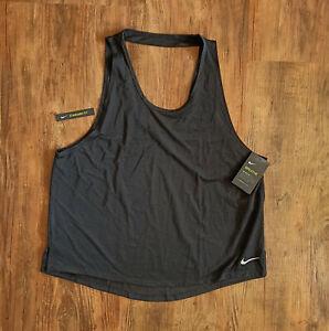 Nike Performance Miler Breathe Lauftank Damen Tanktop Schwarz Gr XL AJ8139-010