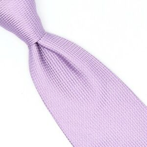 Donald J Trump Mens Silk Necktie Periwinkle Lavender White Pindot Woven Tie