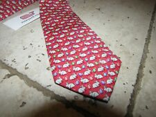 NEW NWT *VINEYARD VINES* Boys Size 49 Bunny & Eggs Tie Raspberry Easter