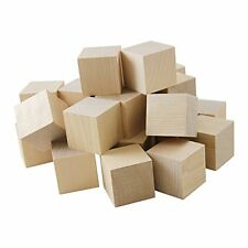 100 Natural Unfinished  Pine Wood  3/4'' Wood Blocks Square Cubes- BIRD CHEWS