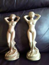 More details for art deco plaster lady figures