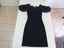 Women's REVIEW Size 8 AU Mini Dress Black ExCon Frilly Shoulders Stretchy Short