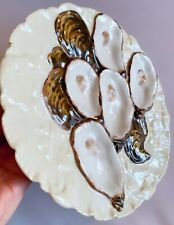 Stunning Rare Antique H & C 1880's Haviland Limoges Oyster Plate Hand Painted