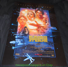 STAR WARS MOVIE POSTER Original 23x33 Inch GERMAN R1997 Drew Struzan Artwork