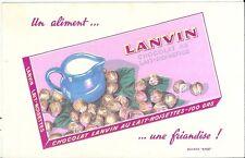 Buvard publicité chocolat Lanvin pot à lait noisette