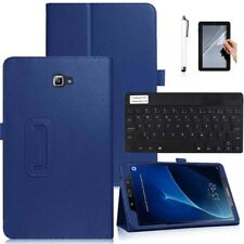 """Dark Blue Leather Case with Keyboard For Samsung Galaxy Tab A A6 7""""-10"""" Tablets"""