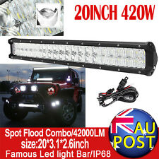 5D OSRAM 20Inch 420W LED Work Light Bar Flood Spot Offroad Driving Lamp 4WD SUV