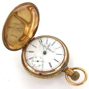 RARE ONLY 16,335 MADE / 1900 ILLINOIS 18S 15J LARGE HEAVY SET MENS POCKET WATCH.