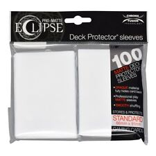100x Ultra Pro Matte ECLIPSE Deck Protector MTG Card Sleeves Pokemon - WHITE
