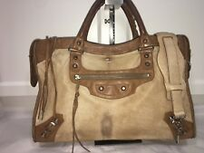 820f4d9070 Authentic BALENCIAGA City Pony Hair Brown with Silver Hardware