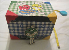 "M&Ms Recipe Box with Tabs, Cards and Holder~""I Bake for No One""~LBDLB"
