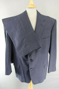 BESPOKE TAILORED VINTAGE 1950'S DARK BLUE WOOL SUIT: CHEST 44 INCH/WAIST 38 INCH
