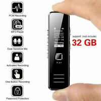 32GB Digital Rechargeable Audio Sound Voice Recorder Pen Dictaphone MP3 Player