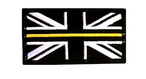 Thin Yellow Line HM COASTGUARD Embroidered Badge Patch Union Jack Flag SMALL