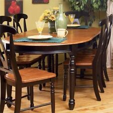 oval table dining solid tables wood