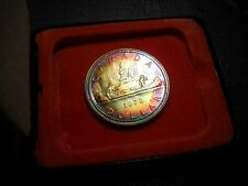 Neon Green/Red/Gold 1972 Canada SP Silver Dollar