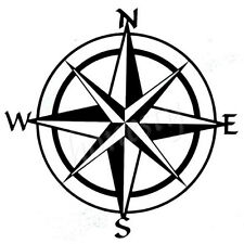Compass Window Glass Car Sticker Laptop Black Vinyl Decal Sticker Decor Gift