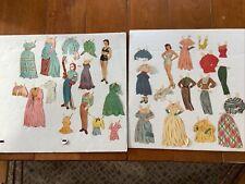 Vintage1949 Ava Gardner Paper Dolls Saalfield cut, used, original