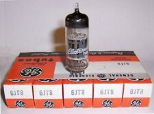 SLEEVE OF 5 NEW IN BOX G. E. 6JT8 TRIODE / PENTODE  TUBES / VALVES