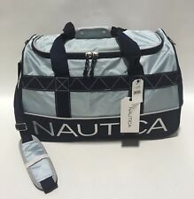 "NEW NAUTICA DOCKSIDE 22"" DUFFLE BAG DUFFLE TOPSAIL NAVY GYM BAG CARRY ON"