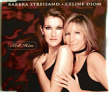 "CELINE DION & BARBRA STREISAND - CD SINGLE 3 TITRES ""TELL HIM"""