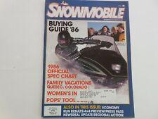 Snowmobile magazine 1986 Buyers Guide Polaris Yamaha Ski-Doo Arctic Cat models