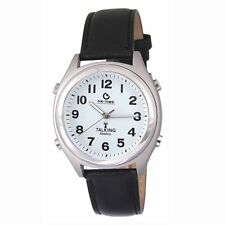 ATOMIC! Talking Wrist Watch w/Alarm,Speaks Time, Day,Date & Year FREE SHIP