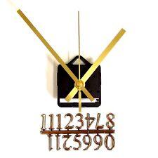 New Silent Quartz Clock Craft Making Kit - 20mm Gold Numbers - 119mm Gold Hands