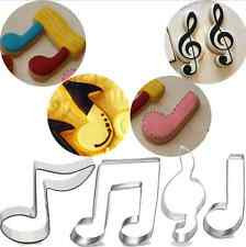 5pcs Stainless Steel Music Notes Symbol Biscuit Baking Cookie Cutter Cake Mold