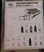 VERLINDEN #201 German 8,8 cm AMMO SET 2 New in Box