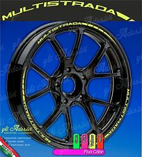 Set Adesivi Cerchi Moto Ruote DUCATI MULTISTRADA 1200 Enduro 950 Fluorescente