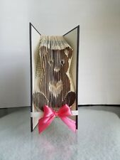 TEDDY BEAR Folded Book Art - Creative Gift Bday/Baby  Shower20% OFF M.L.K SALE