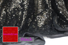 """51"""" Wide Beaded Tulle Bridal Lace Fabric Bling Wedding Mesh Lace Fabric 0.5 M"""