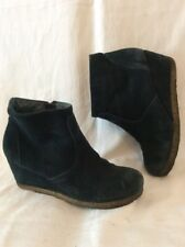 White Stuff Dark Blue Ankle Suede Boots Size 7