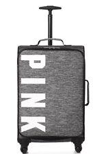Victoria's Secret Pink Wheelie Grey NWT Suitcase Luggage Travel Bag