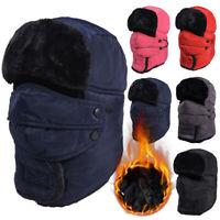 Winter Warm Fleece Lined Balaclava Hat Beanie Snow Ski Neck Face Mask Hood Cap
