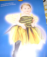 Baby Bee Costume Dress Wings Child 24 Months NWT