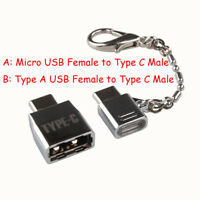 USB-C OTG Adapter 2x Metal Micro Type C Converter USB Female To USB 3.1 Male