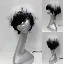 Black and white collocation short level become warped wig free shipping