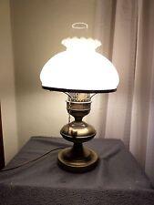 "Lamp with melon shade 18"" tall"