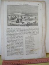 Vintage Print,ESQUIMAUX HUTS OF SNOW,1845,Grahams