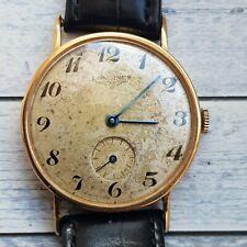 Vintage Longines 18ct Solid Gold Men's Watch