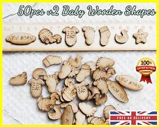 50 Wooden Baby Nursing v2 shapes Craft Scrapbooking MDF Wood gift Embellishment