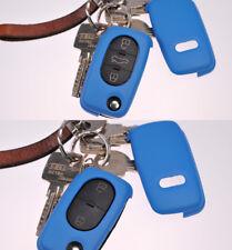 Klapp Schlüssel Hülle Cover Hell Blau f. AUDI A4 B6 A3 8L A6 C5 A2 KEY FOB CASE