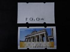Fehldruck Brandenburger Tor/Posttower - rückseitiger Werteindruck