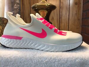Womens Nike White/Pink Slip On Shoes Sneakers. Size 8